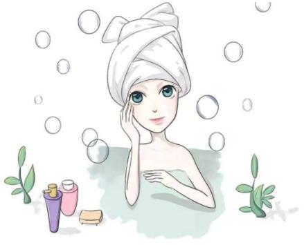 1,起床和皮肤护理的第一步是面部清洁.